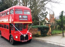 Red London Bus for wedding hire in Aldershot